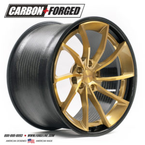 Forgeline Carbon+Forged CF202 in Transparent Gold
