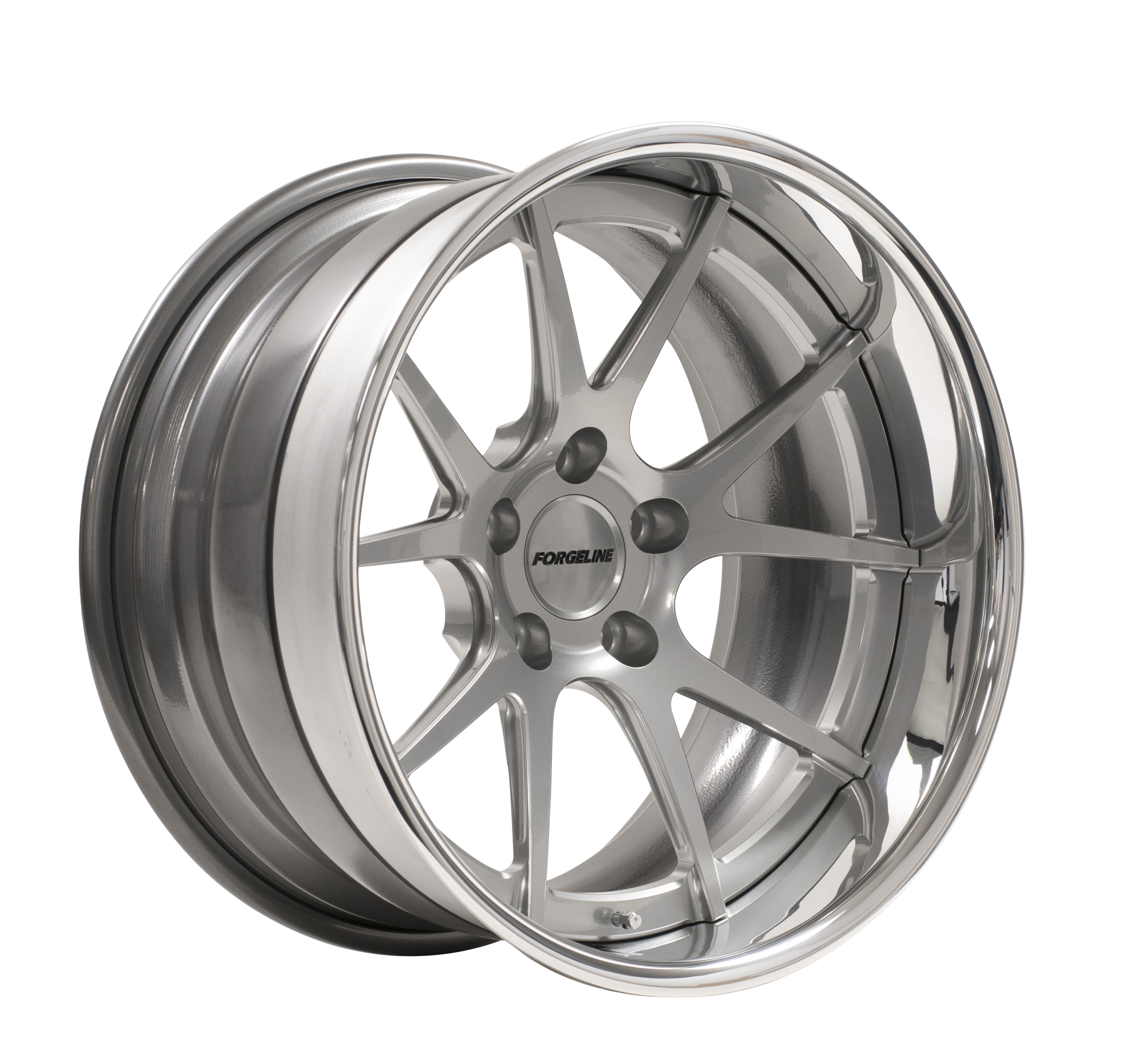 Forgeline GA3C Concave with Hyper Silver Center & Polished Outer
