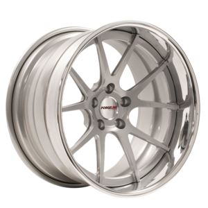 Forgeline GA3C Concave with Silver Center & Polished Outer