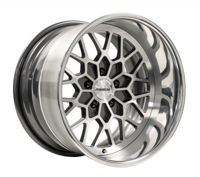 Forgeline TA3 Finished with Gunmetal/HTM Center and Polished Outer (Hidden Hardware)