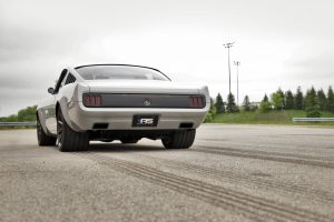 """Marc's Roadster Shop """"Vapor"""" 1965 Ford Mustang on center-locking Forgeline one piece forged monoblock RB1 wheels"""