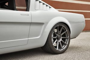 "Marc's Roadster Shop ""Vapor"" 1965 Ford Mustang on center-locking Forgeline one piece forged monoblock RB1 wheels"