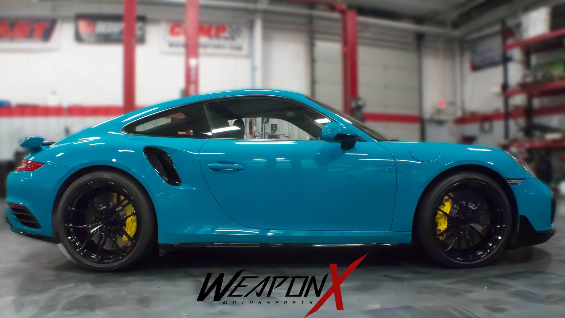 Mike Martin's Miami Blue 991 Porsche 911 Turbo S on ...