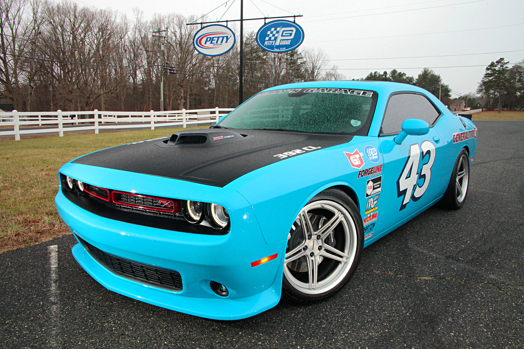 The Petty's Garage General Tire Dodge Challenger on Forgeline SC3C ...