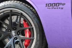 Patrick's Plum Crazy Purple Petty Dodge Challenger Hellcat on Forgeline VX3C-SL Wheels