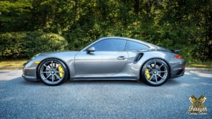 George Smith's Porsche 911 Turbo S on Forgeline GE1 Wheels