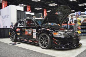 Ken Thwaits' Showtime Motorsports Mitsubishi Evo on Forgeline One Piece Forged Monoblock GS1R Wheels