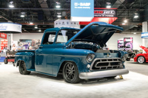 Bogi's Garage 1957 Chevy Montage Truck on Forgeline RB3C Wheels