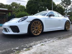 Enrique Thompson's Porsche 991 GT3 on Forgeline One Piece Forged Monoblock GT1 Wheels