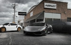 American Body Works Lamborghini Huracan Spyder on Forgeline Carbon+Forged CF203 Wheels