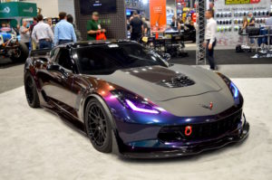 Atlanta Custom Wraps' C7 Corvette Z06 on Forgeline DE3C Concave Wheels