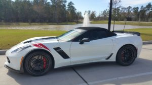 Aaron's C7 Corvette Z06/Z07 Convertible on Forgeline Carbon+Forged CF204 Wheels
