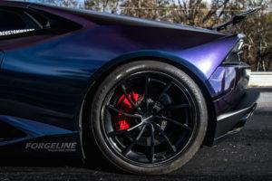 Atlanta Custom Wraps' Lamborghini Huracan on Forgeline Carbon+Forged CF202 Wheels
