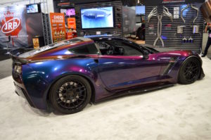 Atlanta Custom Wraps' C7 Corvette Z06 on Forgeline DE3C Concave Wheels