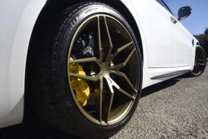 Alfa Romeo Giulia sedan on Forgeline one piece forged monoblock EX1 wheels