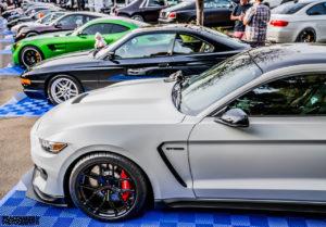Joe Gatt's Ford Mustang GT350R on Forgeline One Piece Forged Monoblock VX1R Wheels