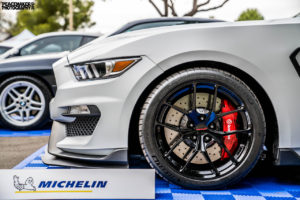 Joe Gatt's Ford Mustang GT350R on Forgeline One Piece Forged Monoblock VX1R Wheels
