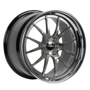 Forgeline GA3-6 Finished with Transparent Smoke Center and Polished Outer