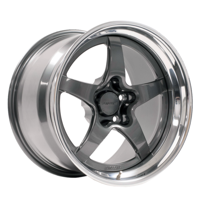 Forgeline GF3 Open Lug Finished with Gunmetal Center, Gunmetal Inner, and Polished Outer