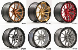 Forgeline Carbon+Forged CF201, CF202, CF203, CF204, CF205, and CF206 Wheels