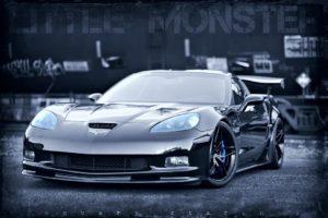 "January Starchild's ""Little Monster"" C6 Corvette Z06 on Forgeline One Piece Forged Monoblock EX1 Wheels"