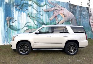 "Lawson Aschenbach's GMC Yukon ""Daddy Wagon"" on Forgeline One Piece Forged Monoblock VX1-Truck Wheels"