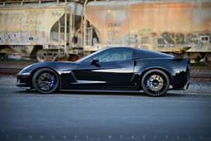 "January Starchild's ""Little Monster"" C6 Corvette Z06 on Forgeline One Piece Forged Monoblock EX1 Wheels"
