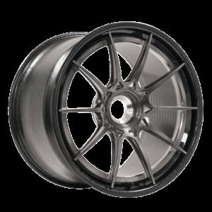 Forgeline Carbon+Forged CF205 Centerlock Porsche GT3 Fitment in Transparent Smoke