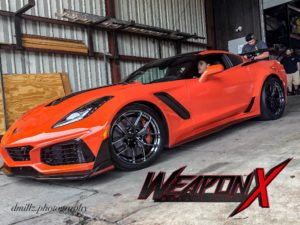 Weapon X Motorsport's 800HP C7 Corvette ZR1 on Forgeline One Piece Forged Monoblock VX1R Wheels