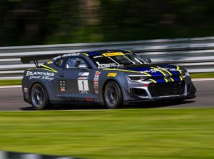 In race number 2, Lawson Aschenbach & Andy Pilgrim earned third place, in their #1 Blackdog Speed Shop Chevrolet Camaro GT4.R on Forgeline GS1R Wheels!