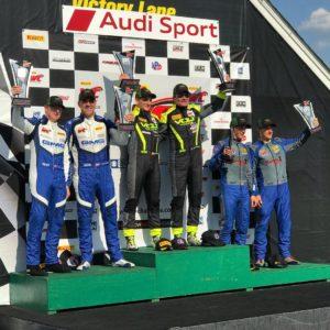 VOLT Racing and Blackdog Speed Shop on the Pirelli World Challenge Podium at VIR