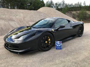 Hans Myhra's Ferrari 458 Italia on Forgeline Carbon+Forged CF201 Wheels