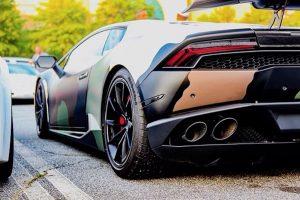 Atlanta Custom Wraps' Camo Lamborghini Huracan on Forgeline Carbon+Forged CF202 Wheels