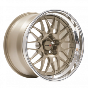 Forgeline GX3 Open Lug Finished with Light Anodized Bronze Center & Inner and Polished Outer