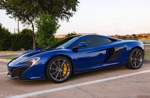 Lawrence Goodnight's McLaren 570S on Forgeline one piece forged monoblock GT1 5-Lug wheels