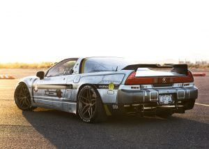 Jhae Pfenning's Acura NSX on Forgeline one piece forged monoblock EX1 wheels