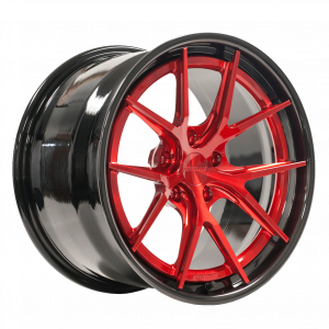 AL301 Finished with Transparent Red Center and Black Pearl Inner & Outer