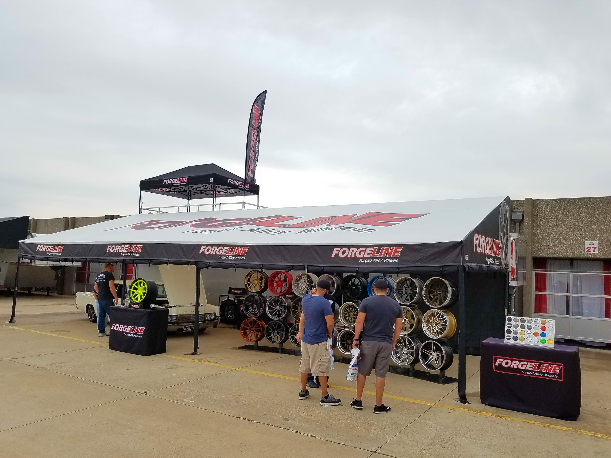The Forgeline trailer at the 2017 Goodguys Lonestar Nationals, in Ft Worth, TX