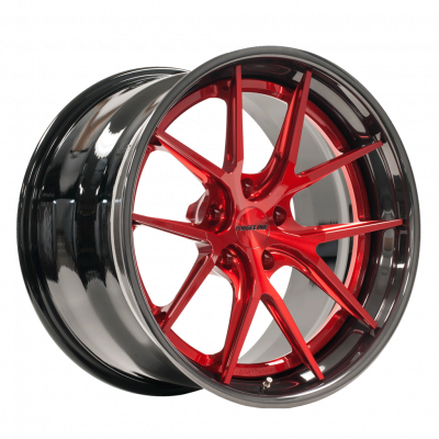AL301 with 3-inch Outer (Transparent Red Center with Black Pearl Outer)