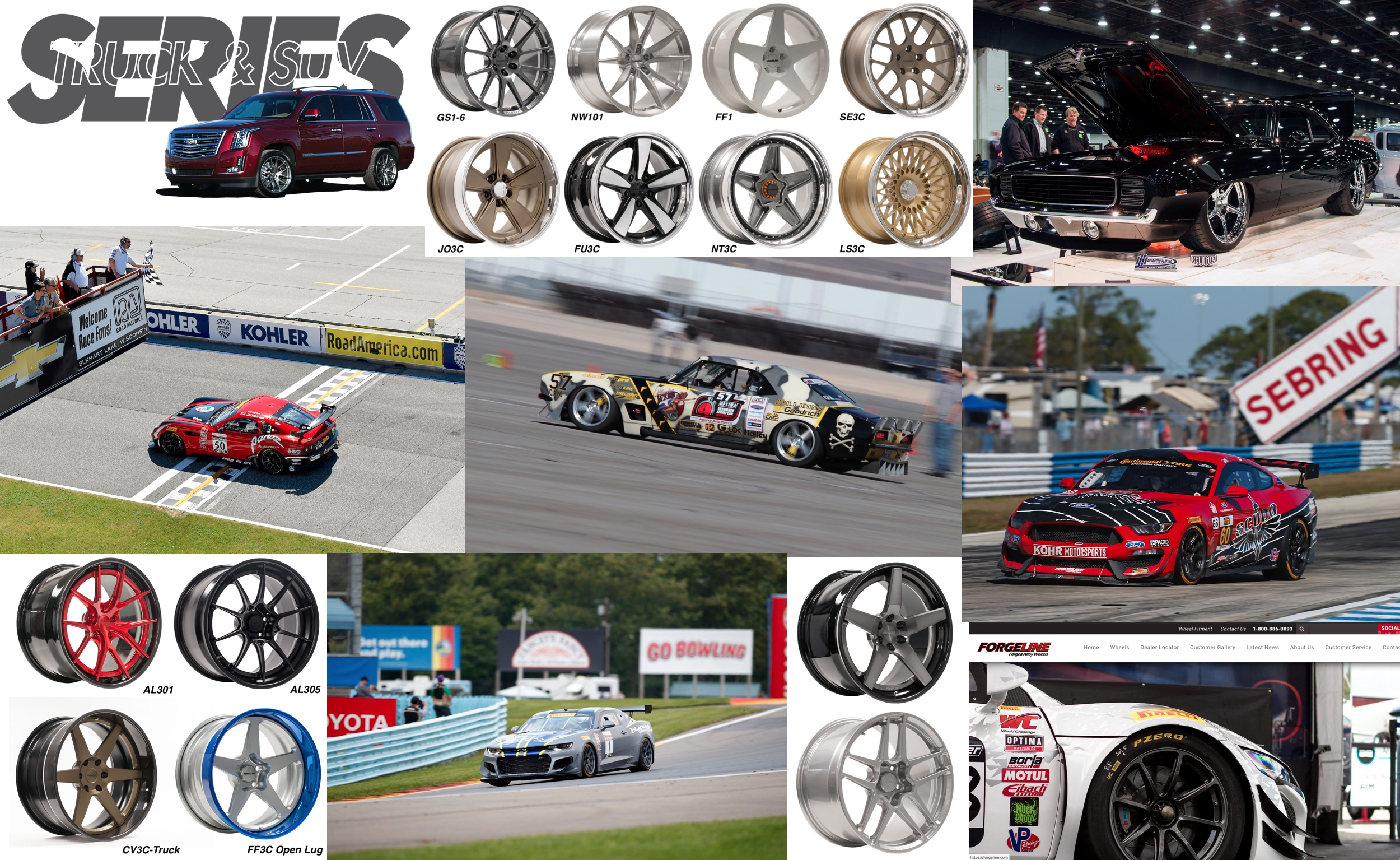 Image collage of significant Forgeline accomplishments of 2018