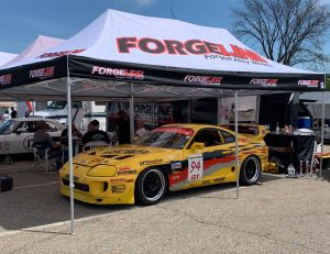 Hikari Racing Wheel Source Toyota Supra on Forgeline GW3R wheels makes a comeback at SVRA Mid-Ohio