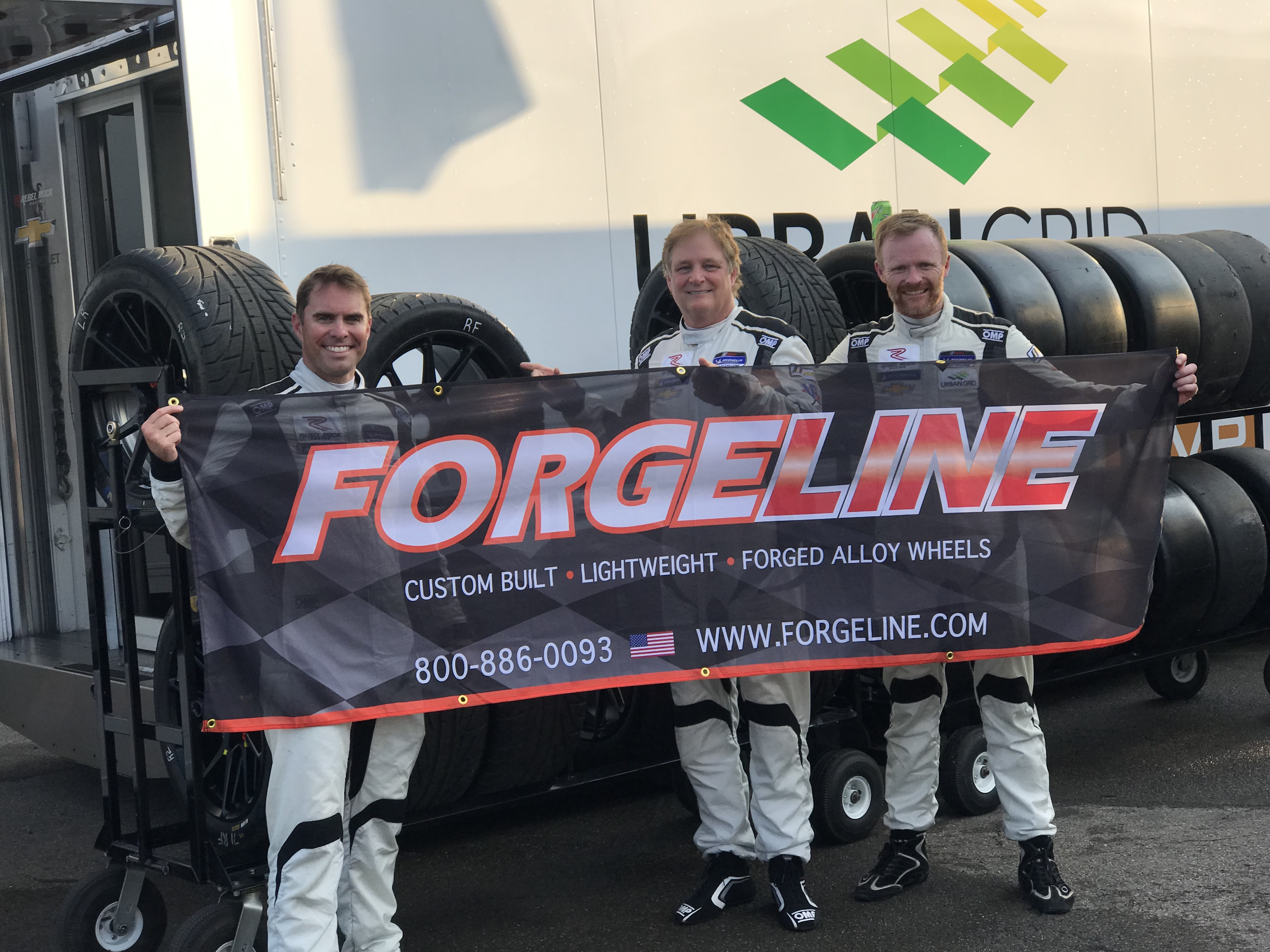 Rebel Rock Racing's DePew, Davis, and Liddell win Forgeline Spirit of the Race at Watkins Glen