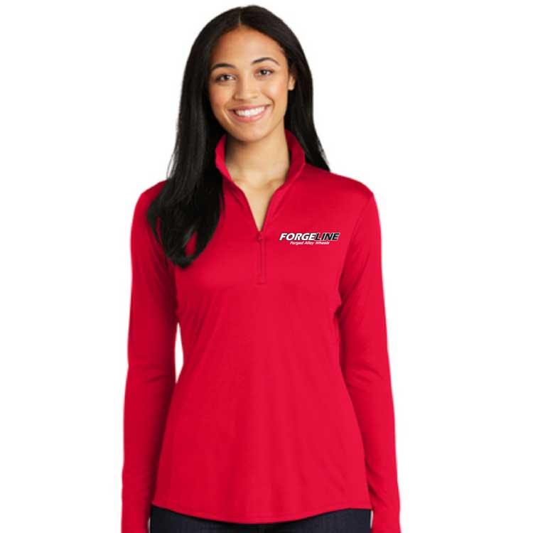 Forgeline Vertical CAD Ladies Sport-Tek PosiCharge Competitor 1/4-Zip Pullover True Red