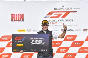 Ian James wins the Sprint Drivers Overall Championship for Team Panoz