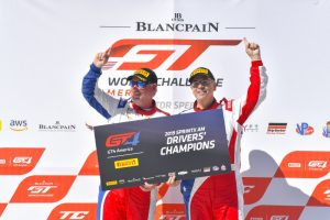 Preston Calvert and Matt Keegan win the SprintX AM Drivers Championship for Team Panoz