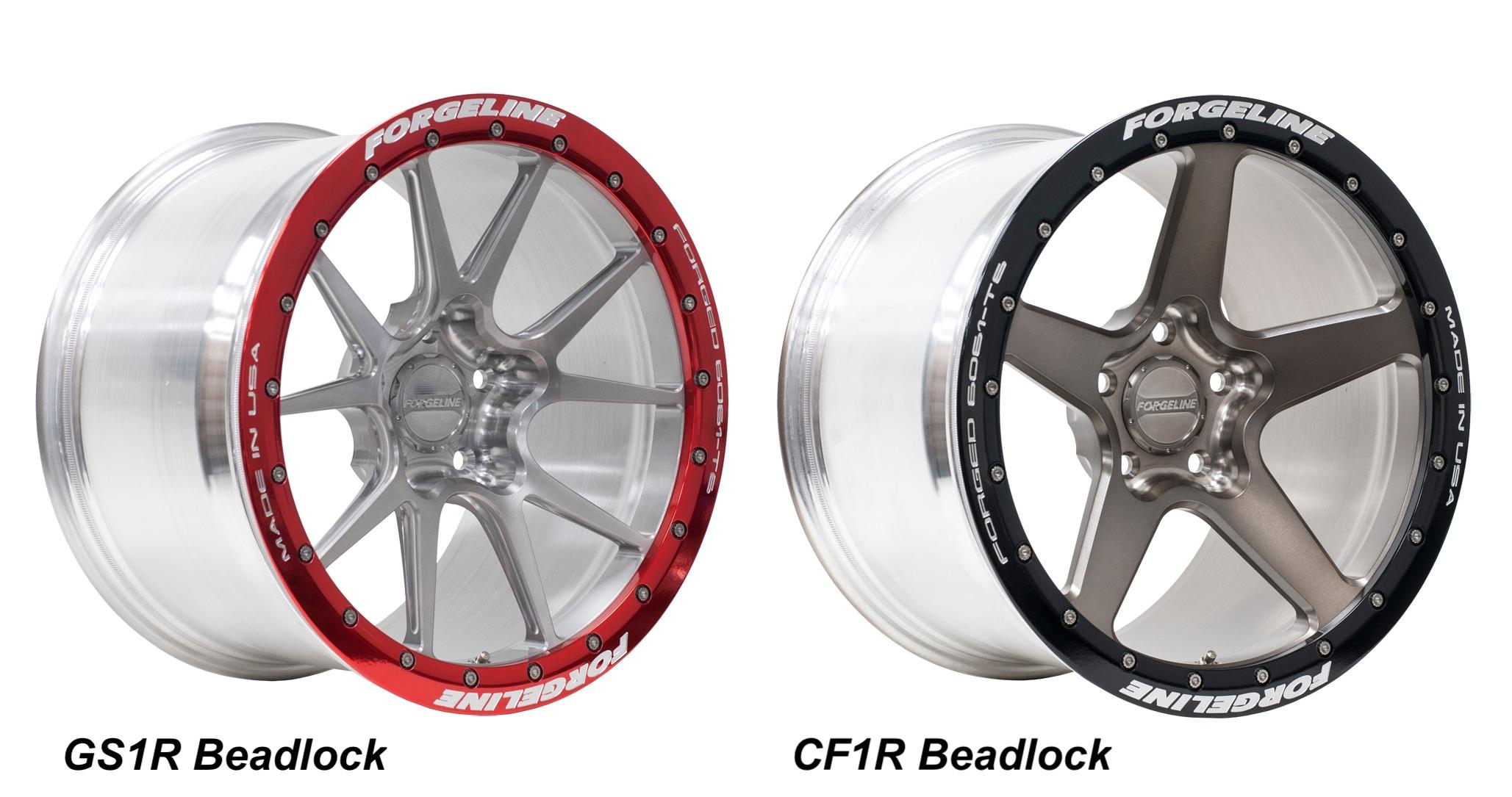 Forgeline GS1R Beadlock wheel and Forgeline CF1R Beadlock wheel
