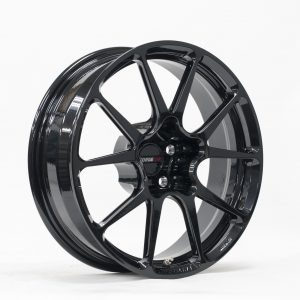 18x5 Forged Monoblock GS1R Skinny Finished in Carbon Black