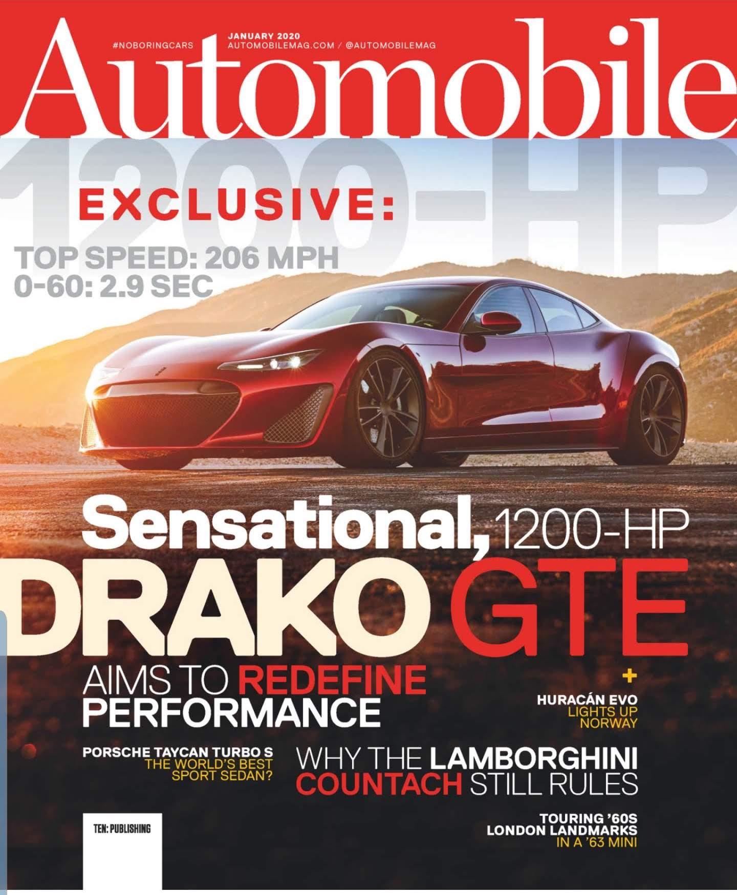 Automobile Magazine cover of Drako GTE