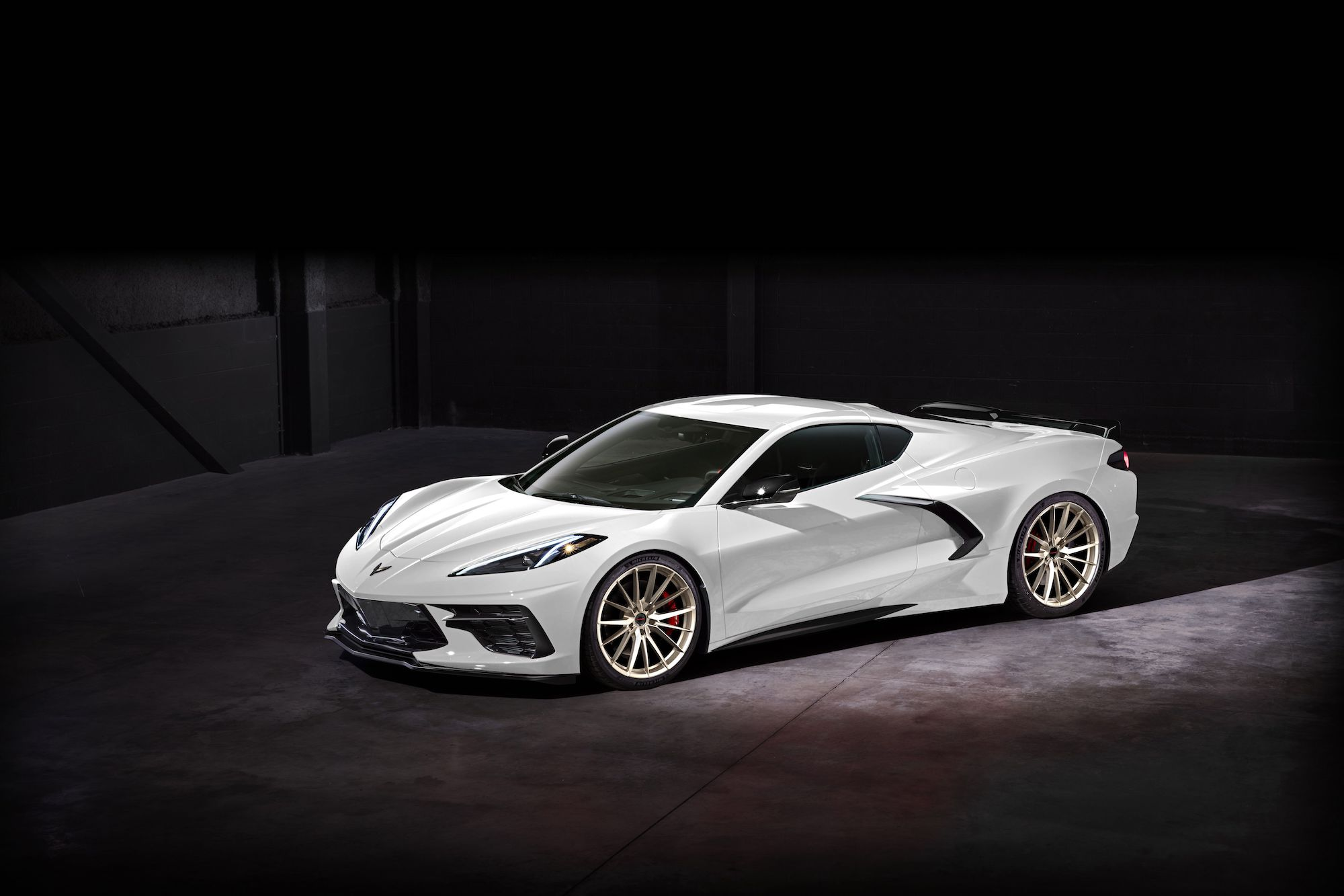 2020 Chevrolet C8 Corvette on Forgeline One Piece Forged Monoblock NW102 Wheels