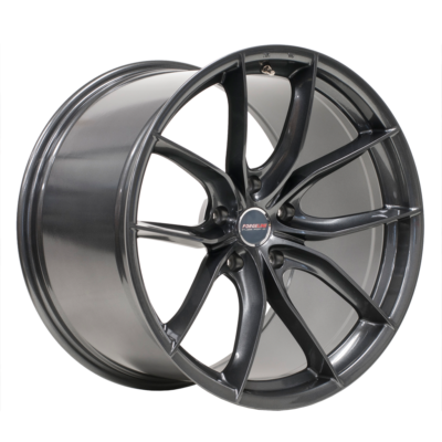 Flow Formed F01 20x12 in Anthracite with Standard Charcoal Center Cap
